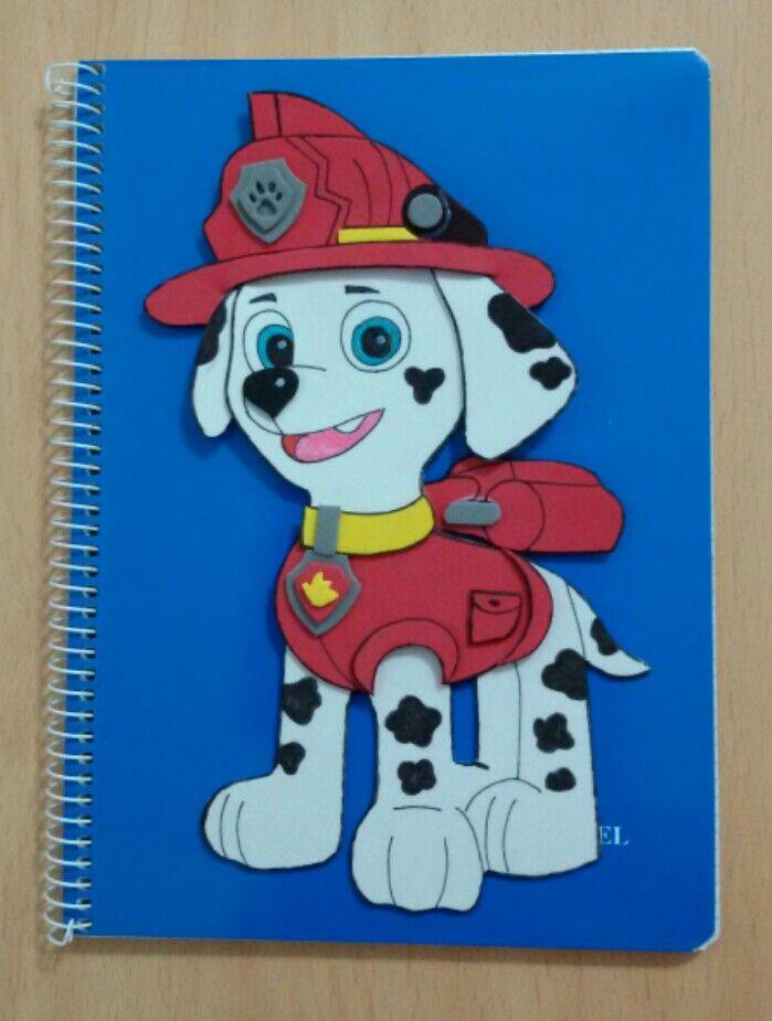 Cuadernos patrulla canina marshall goma eva pinterest - Manualidades patrulla canina ...