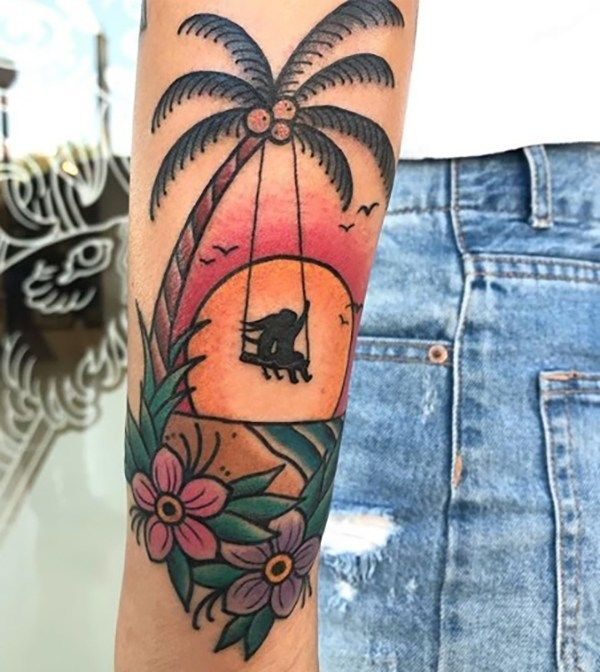 40 Beach Themed Tattoos To Chase Away The Winter Blues Tattoos