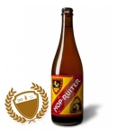 Hop Ruiter (Hop Rider) has a full, almost rustic malt body, and pairs Belgian yeast-driven flavors with American assertive hoppiness. It is dry hopped, with two noble varieties which add complexity, delicacy and a bit of funk (Commercial Description).