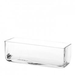 Glasvase, eckig, L: ca. 22 cm, H: ca. 7 cm, klar, 7€    #dasDepot  #Vase