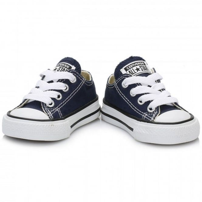 New Infants Converse Navy All Star Ox Textile Trainers Plimsolls