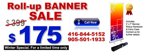 """Special offer at Mega Digital Imaging Now you can get 33.5""""w x 83""""h #banner #display with padded carry case @ $175 with this you can get free poster. More information at:- http://www.megaimaging.com/ Call us at:- 905-501-1933 or 416-844-5152 Also you can write us at:- info@megaimaging.com"""