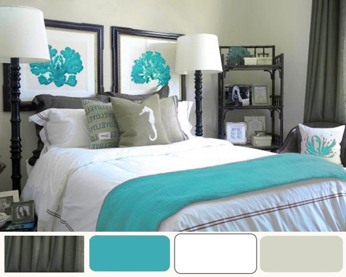 25 best ideas about coral and turquoise bedding on - Grey and turquoise bedroom ideas ...