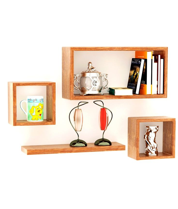 Infuse A New Life And Look Into Your Living Room Wall With This Set Of Four Wooden Shelves Mango Wood At