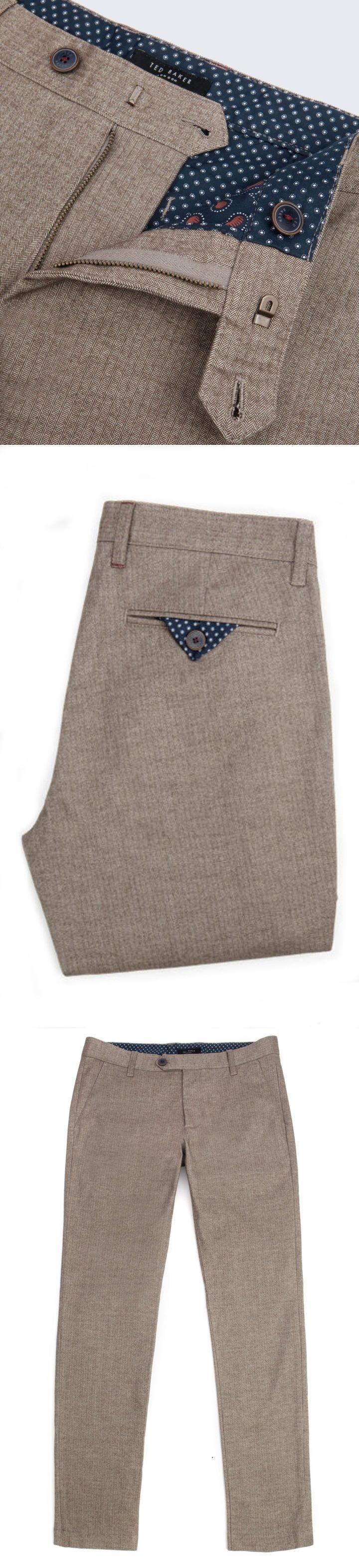 Ted Baker | Deerchi | Slim Fit | Herringbone Trousers.
