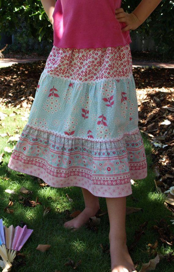 Girls SKIRT PATTERN - 3 Tier Twirly Skirt, size 1 to 6T
