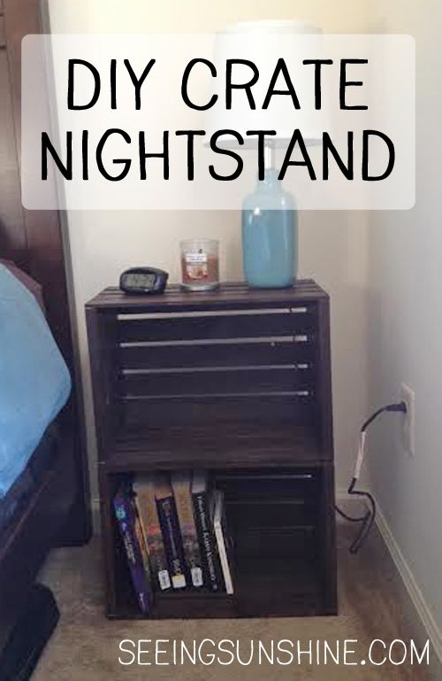 17 best ideas about crate nightstand on pinterest crate for Painted crate ideas