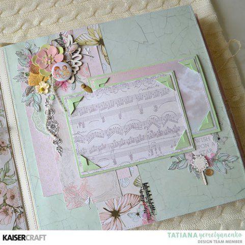 """Fairy Garden"" Album (25x25cm)   [view G ] by Tatiana Yemelyanenko Design Team Kaisercraft Official Blog. Featuring their March 2018 'Fairy Garden' collection. Learn more at kaisercraft.com.au - Wendy Schultz - Kaisercraft Projects."
