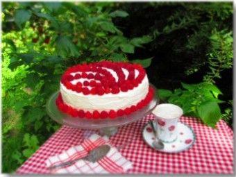 Raspberry Mascarpone Cake