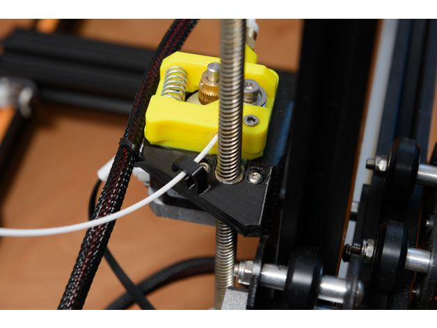 This Is A Filament Guide For The Creality Cr 10 Printer Basically It Will Prevent Your Filament To Touch The Greasy Z Axis Lead Filament 3d Printing Printer