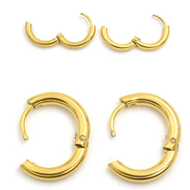 2 Stuk Rvs Ronde Earring Koreaanse Leuke kleine Cirkel Oor Oorbellen Sieraden Helix Tragus Jongen Mannen Vrouwen Gift