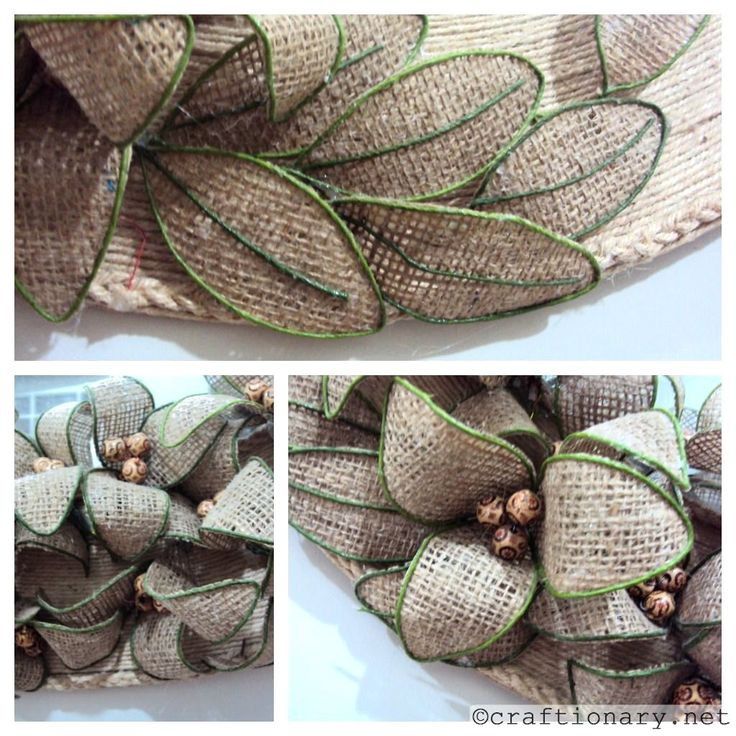 DIY: How to make bendable burlap flowers.