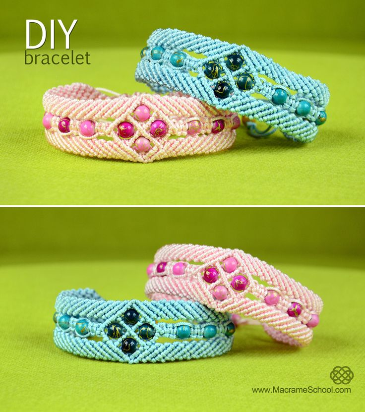 Diamond Window Bracelet Tutorial - http://youtu.be/2050wGuMDAs