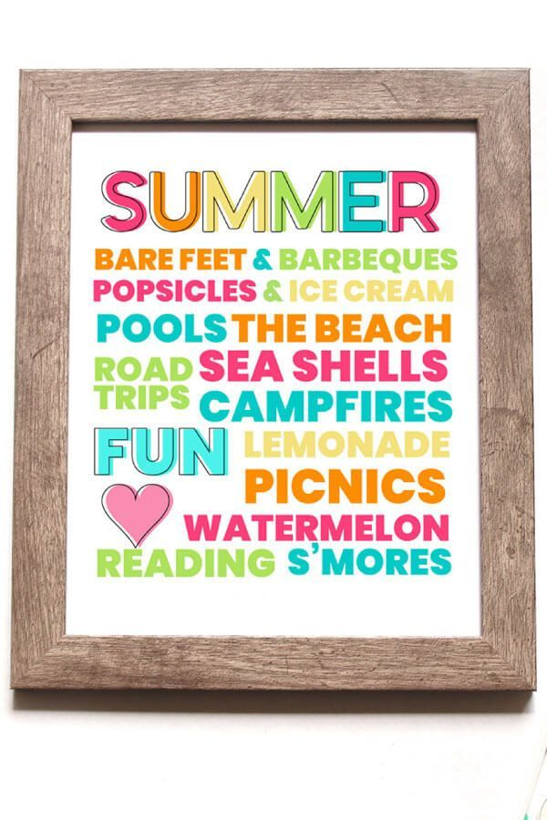 Nice Printable Summer Quote 5