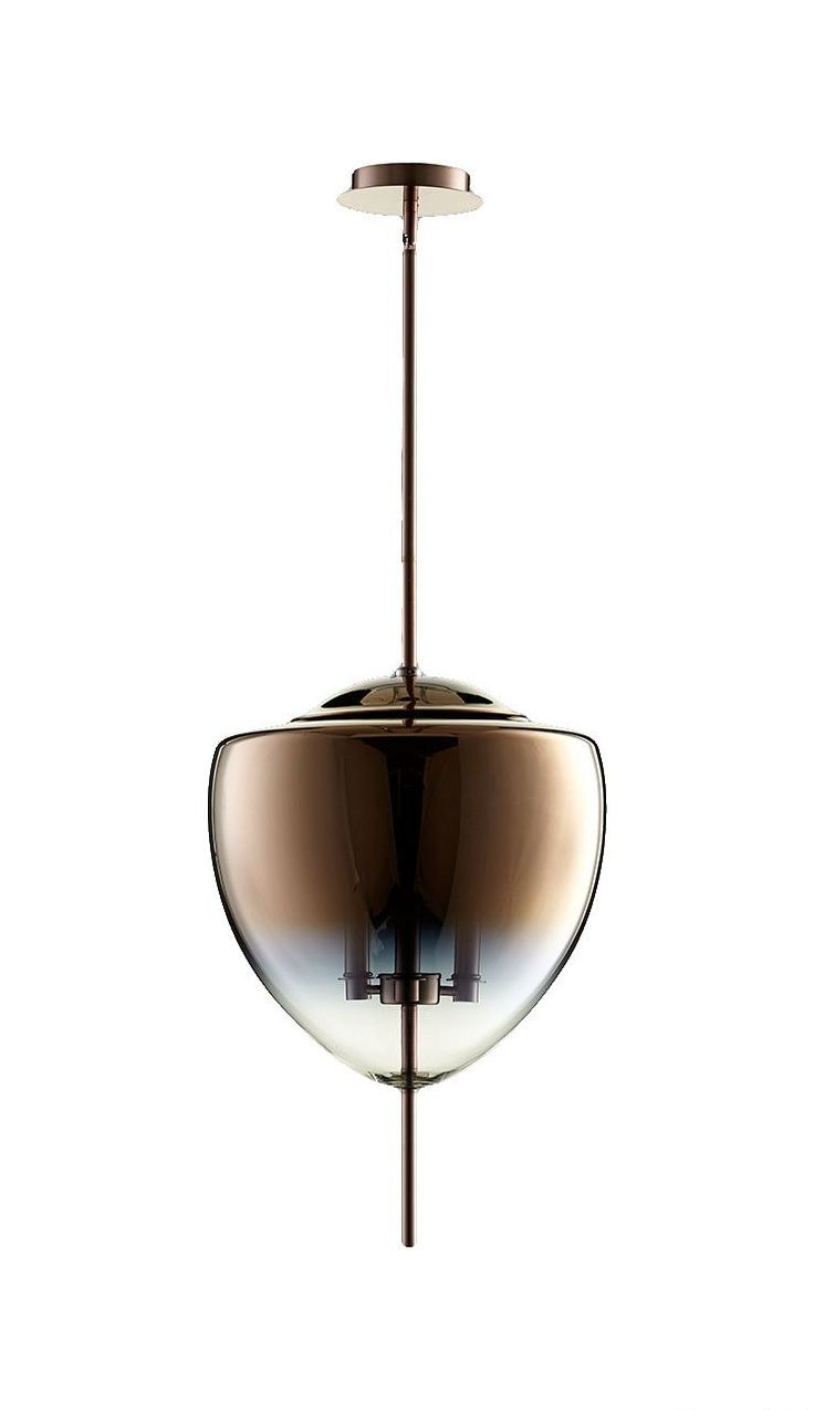 Ember 3 Light Pendant In Satin Copper Design By Cyan Design