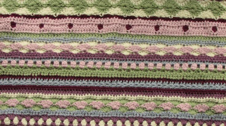 Easy Crochet Striped Afghan Patterns : 251 best images about Afghans and rugs on Pinterest Free ...