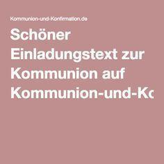 Schöner Einladungstext zur Kommunion auf Kommunion-und-Konfirmation.de