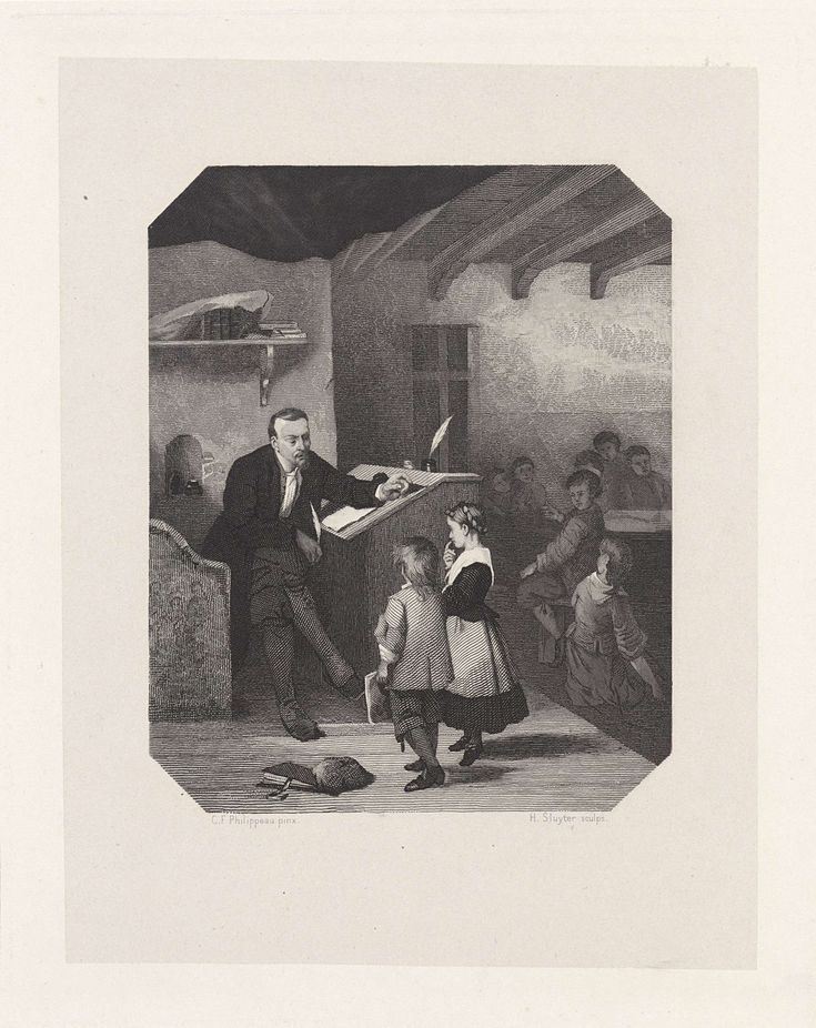 Gysbert Japicx, ca. 1650, als schoolmeester, Hendrik D. Jzn Sluyter, 1865 - 1870
