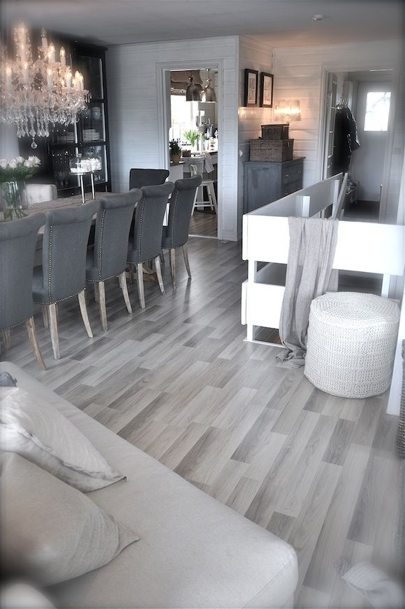 Dining room flooring laminate flooring for dining for Grey hardwood floors kitchen