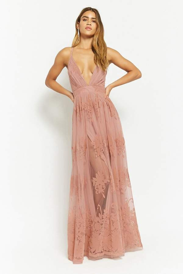 Forever 21 Flocked Velvet Prom Gown Check It Out Now In