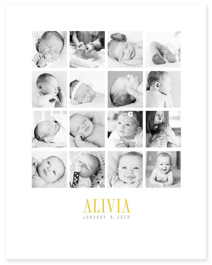Photo Collage Templates for Framing - baby pictures, wedding pictures, life pictures, gift