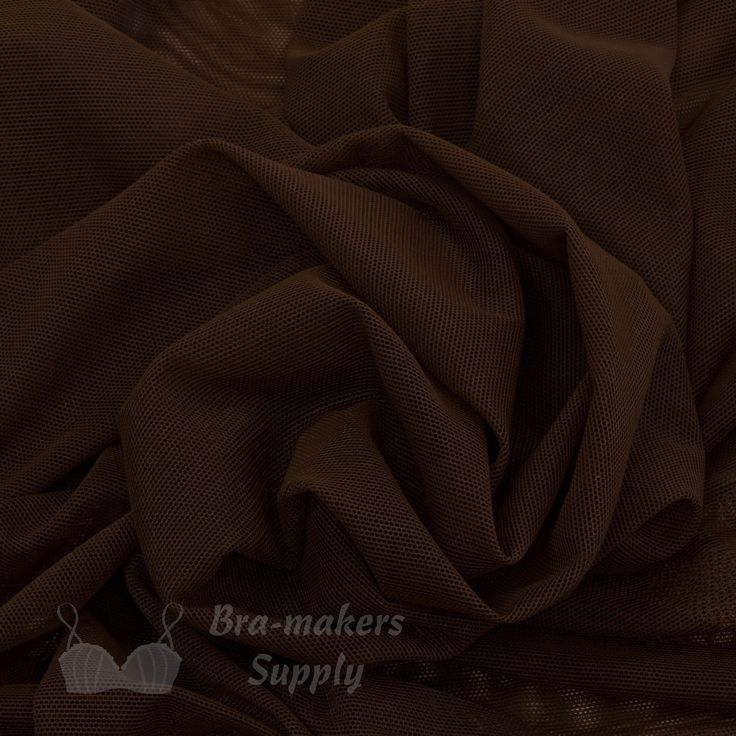 Shown in chocolate, our sheer and lightweight Stretch Mesh Fabric is very versatile, a great multipurpose material. Use for bras, dance costumes, skating costumes. 18 beautiful colours. #StretchMesh #MeshFabric