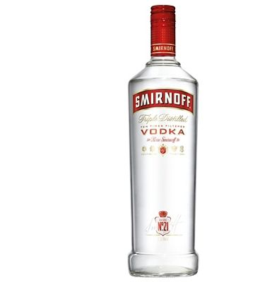 Smirnoff Red Label Vodka 1 Litre Smirnoff Vodka is the world™s leading premium vodka, created by a unique process involving three distillations and ten stages of filtration to deliver unrivalled smoothness and clarity. (Barcode EAN=5 http://www.MightGet.com/january-2017-13/smirnoff-red-label-vodka-1-litre.asp