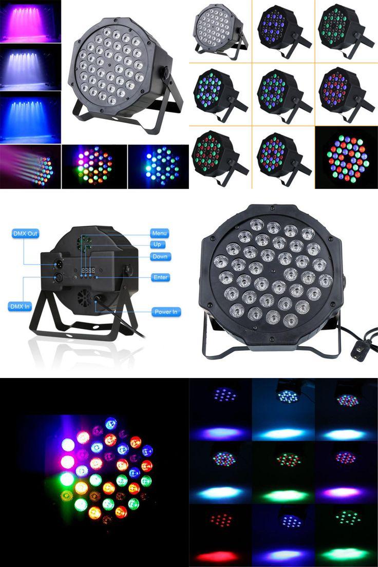 [Visit to Buy] Hot Sale LED Crystal Magic Ball Par 36 RGB LED Stage Light Effect Disco DJ Bar Effect UP Lighting Show DMX Strobe for Party KTV #Advertisement