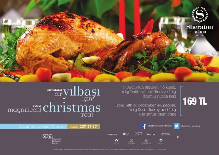 This Christmas enjoy the tastes of Sheraton Adana Hotel at your home!