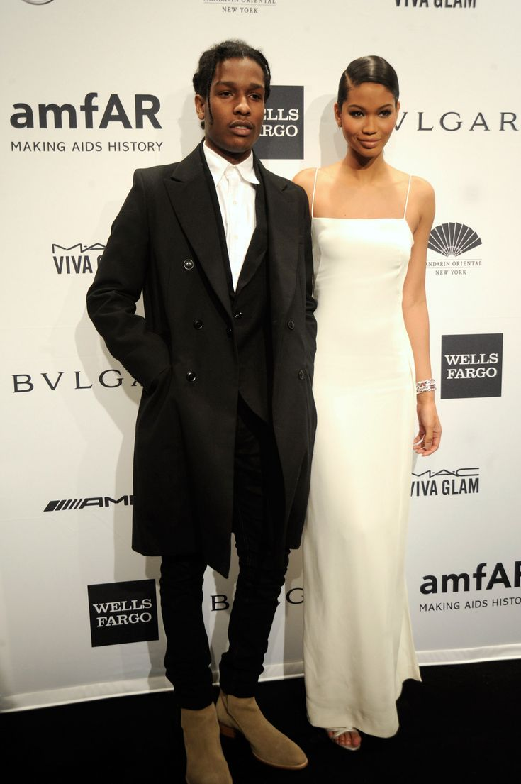 After Hours at amfAR - ASAP Rocky and Chanel Iman.