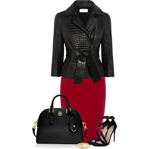 A fashion look from August 2014 featuring Fendi jackets, Jaeger skirts and Carvela sandals. Browse and shop related looks.