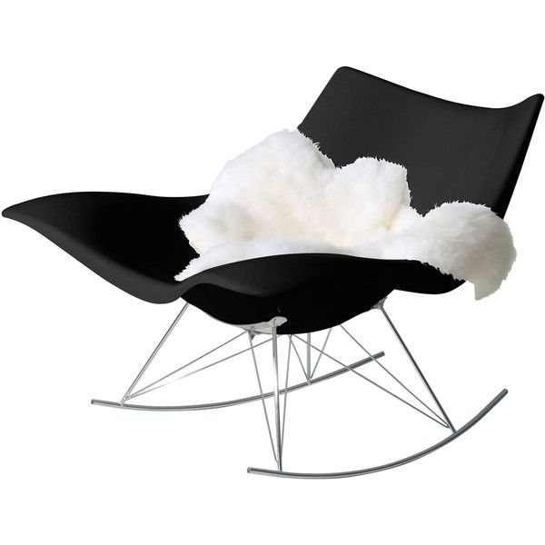 Fredericia Stingray Rocking chair ($2,485) ❤ liked on Polyvore featuring home, furniture, chairs, accent chairs, chair, black, house, outdoors chairs, black accent chair and outdoor rocker chair