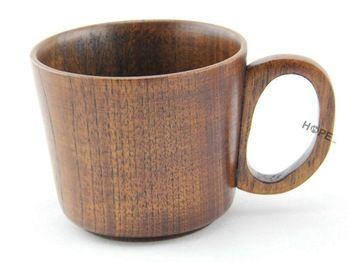 Top woodworks wooden cup mug - coffee, tea, beer, wine, water, milk, cups. Bar, restaurant supplies.H:8.5(CM)  R:11.5(CM)