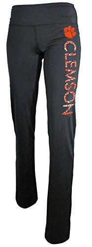 NCAA Clemson Tigers Women's Power Straight Leg Yoga Pant, X-Large, Black