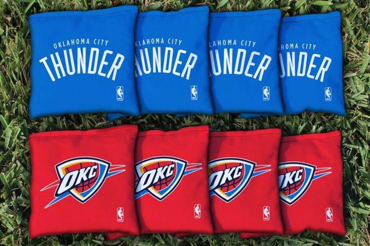 Cornhole Bag Logo Set - Oklahoma City Thunder 28831