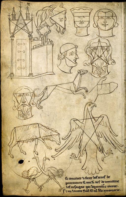 Le carnet de Villard de Honnecourt (vers 1220-1230), fol. 36 - Paris, Bibliothèque nationale de France, Département des manuscrits, Français 19093