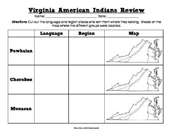 For Virginia 4th Grade students, there's so much to know! The American Indians unit tends to be harder for students to remember. Help them to better remember with this review activity.  This in-depth review has students doing a variety of things such as sorting, filling in the blank, and practicing map skills.