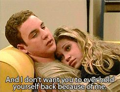 When they basically summed up what love is in two tiny sentences. | 18 Times Cory And Topanga Set The Relationship Bar Way, Way Too High