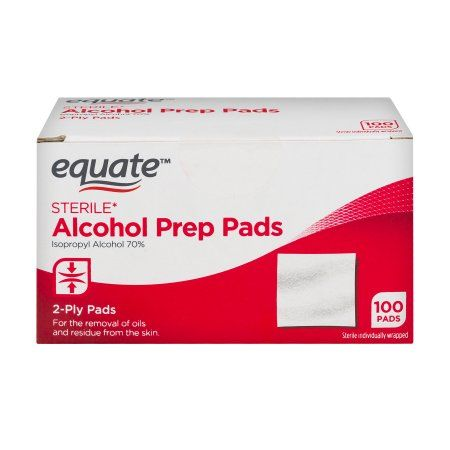 Equate Sterile Alcohol Prep Pads, 100 Ct | Products