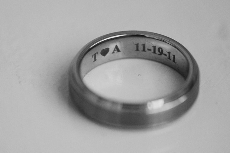 Inscription within ring, groom and bride initials - Lukas VanDyke Photography #weddinggarb #weddingpics