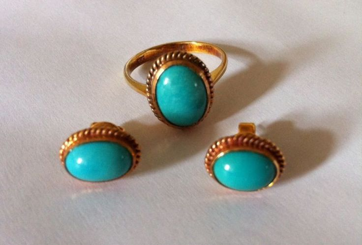 *Antique Turquoise Line Collectibles Set, Bid Now on eBay!!