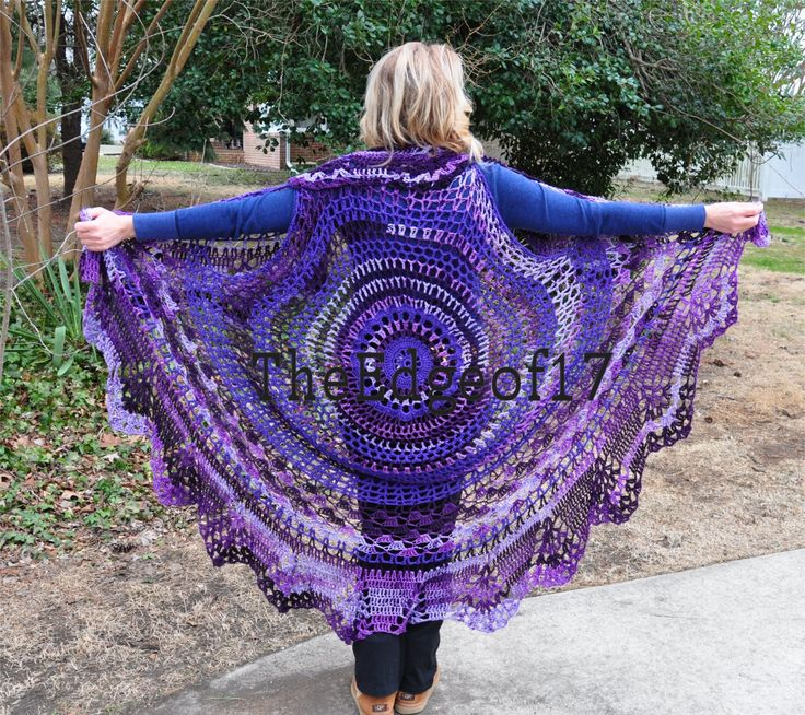 Circle Vest - Bohemian Vest - crochet pattern Crochet and Knitting Pinter...