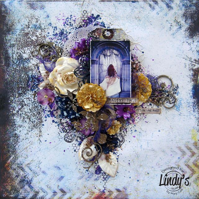 Mary's Crafty Moments: ''Imagine That'' - DT Layout for Lindy's Stamp Gan...