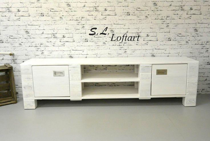 Sideboards - Palettenmöbel Kommode/ TV-Bank 200 cm 'Block' - ein Designerstück von SL-Loftart bei DaWanda