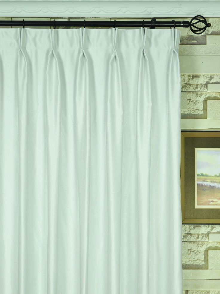 Extra Wide Swan Beige and Yellow Solid Double Pinch Pleat Curtain 100 - 120 Inch | Cheery Curtains: Ready Made and Custom Made Curtains For Less