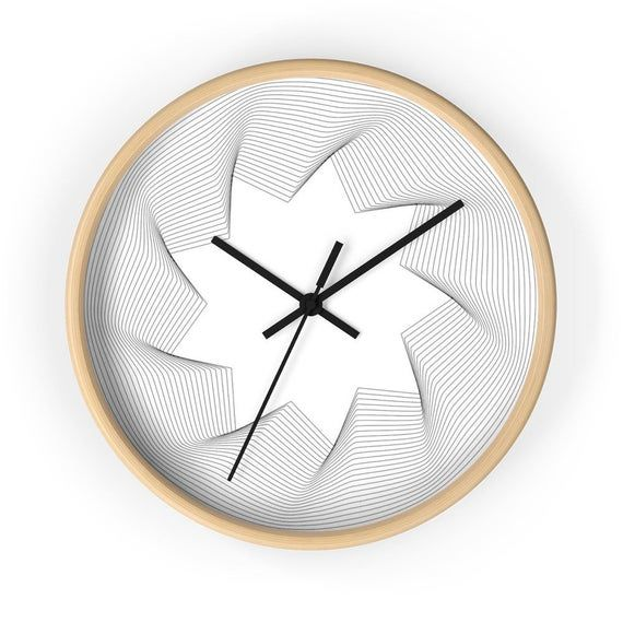 Modern Wall Clocks In Black And White Scandinavian Decor Etsy Wall Clock Modern Wall Clock Modern Wall