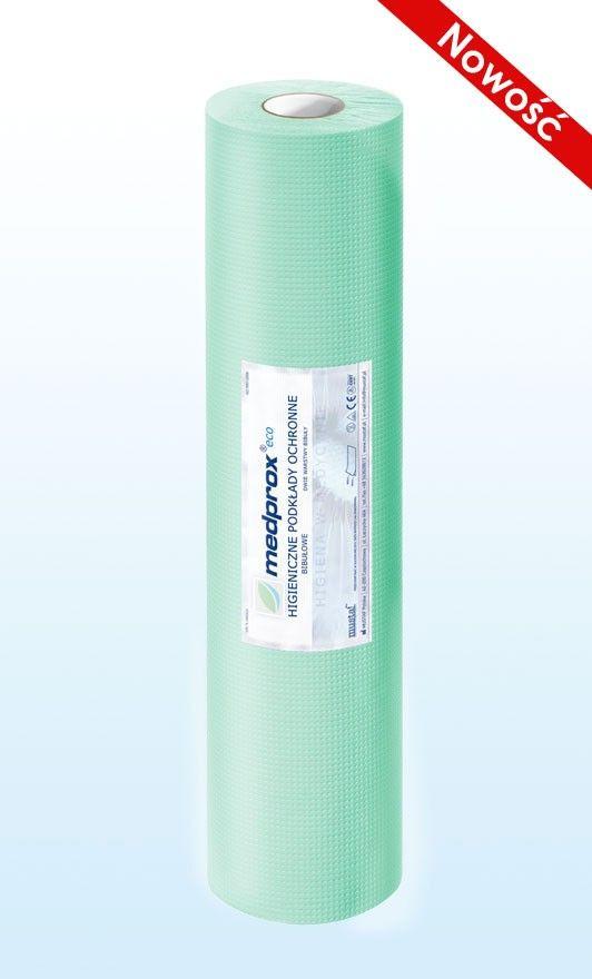 Prześcieradło jednorazowe MEDPROX eco 60 cm, kolor zielony, niebieski