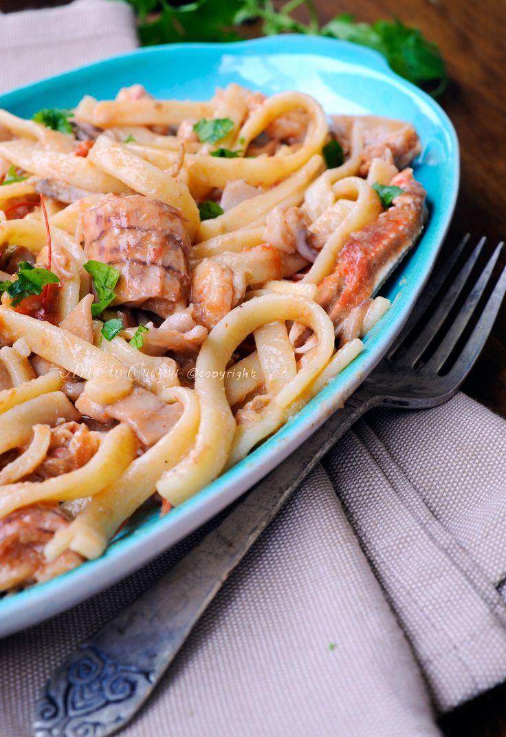 Scialatielli ai frutti di mare ricetta napoletana vickyart arte in cucina