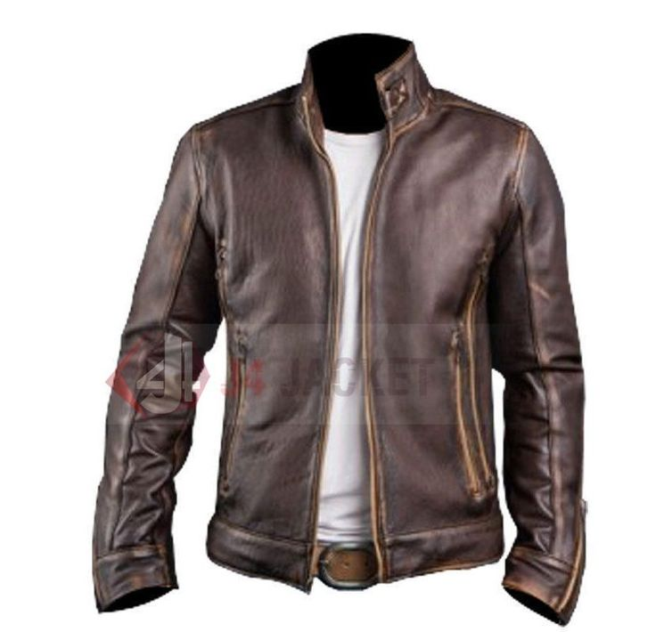 Mens Vintage Handmade Cafe Racer Stylish Biker Brown Distressed Leather Jacket | Clothing, Shoes & Accessories, Men's Clothing, Coats & Jackets | eBay!