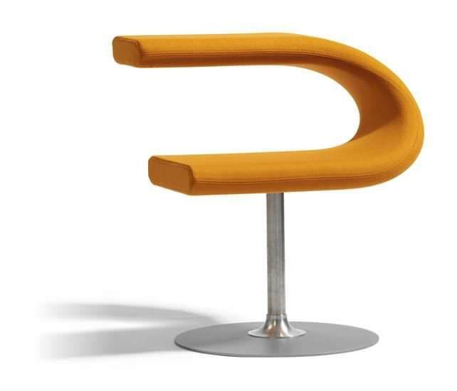 Original design chair / swivel / fabric - INNOVATION C by Fredrik Mattson - Blå Station